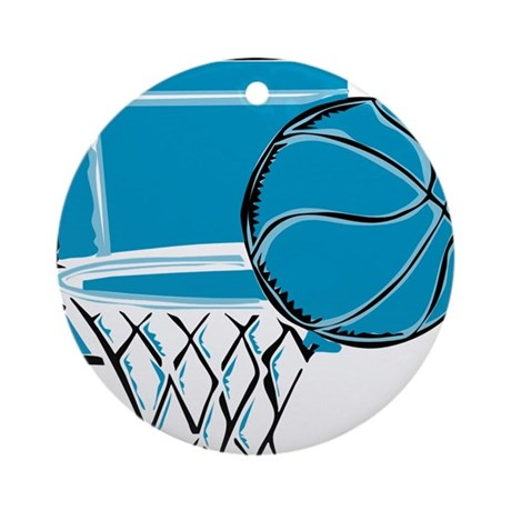 BASKETBALL *52* {blue} Ornament (Round)