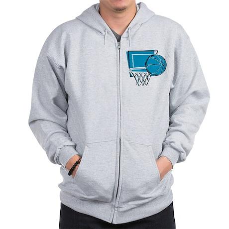 BASKETBALL *52* {blue} Zip Hoodie