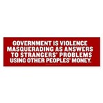 Government in a Nutshell Sticker (Bumper)