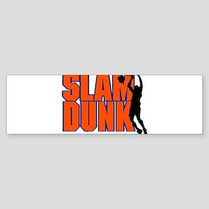 SLAM DUNK *2* {orange/blue} Sticker (Bumper)