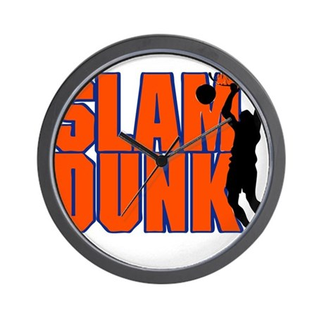 SLAM DUNK *2* {orange/blue} Wall Clock
