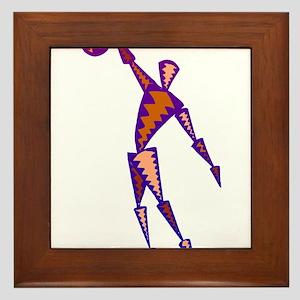 BASKETBALL *56* {purpleish} Framed Tile