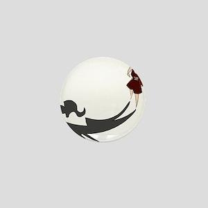 BASKETBALL *58* {crimson} Mini Button