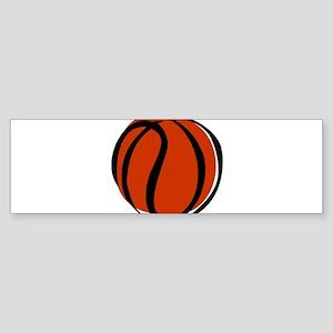 BASKETBALL *60* {orange} Sticker (Bumper)