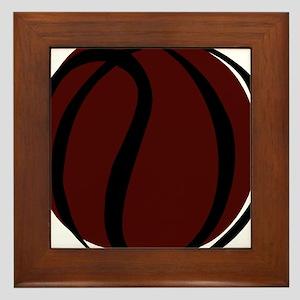 BASKETBALL *60* {crimson} Framed Tile