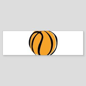 BASKETBALL *60* {yellow} Sticker (Bumper)