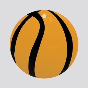 BASKETBALL *60* {yellow} Ornament (Round)