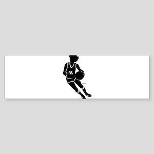 BASKETBALL *61* {black} Sticker (Bumper)