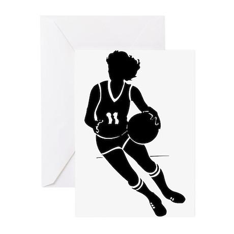 BASKETBALL *61* {black} Greeting Cards (Pk of 20)