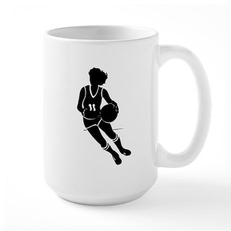 BASKETBALL *61* {black} Large Mug