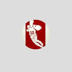 BASKETBALL *62* {red} Mini Button