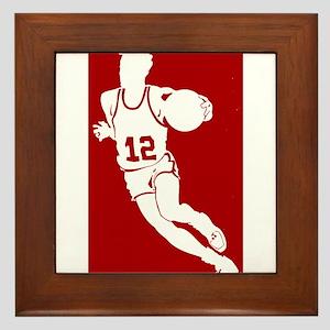 BASKETBALL *62* {red} Framed Tile