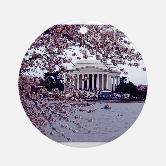 Cherry Blossoms, Washington, DC Ornament (Round)