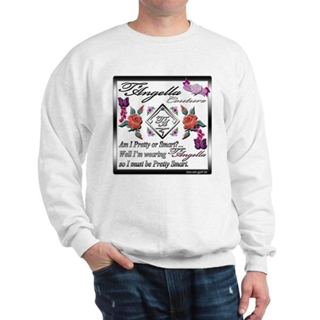 Sweatshirt with red roses and butterflies