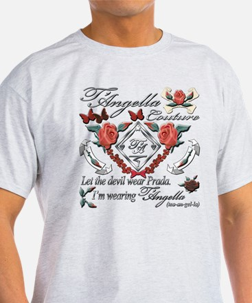 Trendy T-Shirt with roses and butterflies