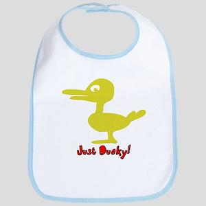 Funny Just Ducky Bib