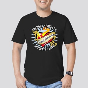Suicide Prevention Classic He Men's Fitted T-Shirt
