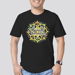 Suicide Prevention Lotus Men's Fitted T-Shirt (dar