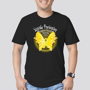 Suicide Prevention Butterfly Men's Fitted T-Shirt