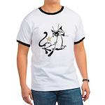 Siamese Cat Royalty Ringer T