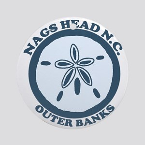 Nags Head NC - Seashells Design Ornament (Round)