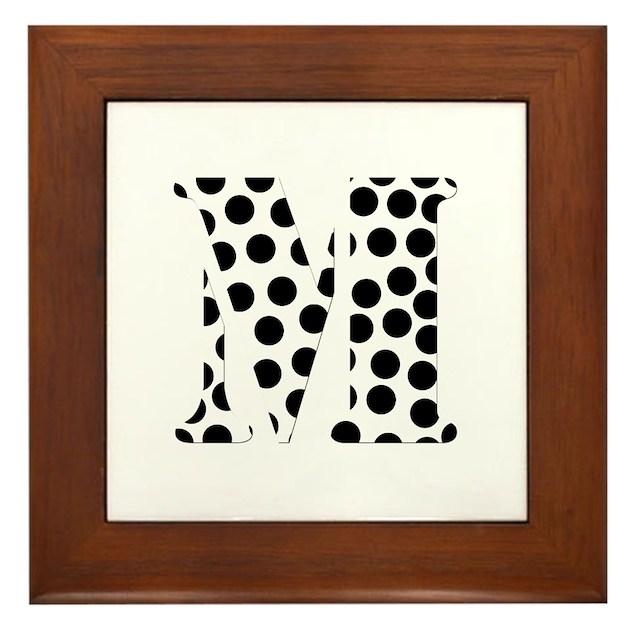 The Letter 'M' Framed Tile By Nikolleuk1