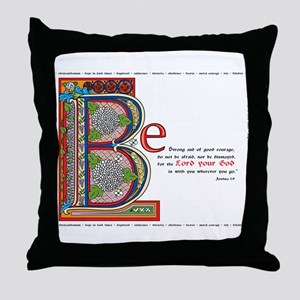 Joshua 1:9 Throw Pillow