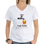 Frack This Women's V-Neck T-Shirt