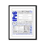 The IPv6 Framed Panel Print