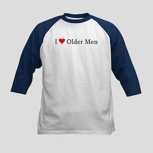 I Love Older Men Kids Baseball Jersey