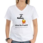 What The Frack Women's V-Neck T-Shirt