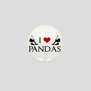 I Heart Pandas Mini Button