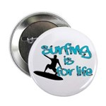 Surfing is for Life Button
