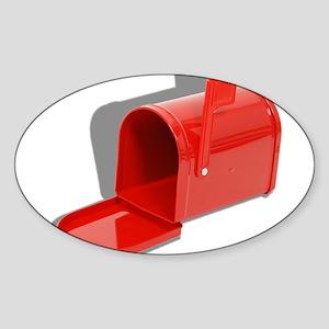 Mailbox Open Sticker (Oval)