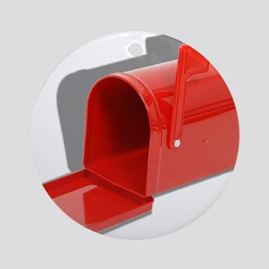 Mailbox Open Ornament (Round)