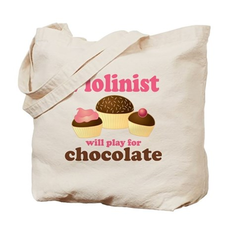 Chocolate Violin Tote Bag