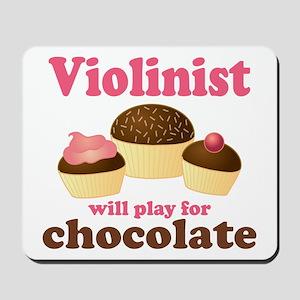 Chocolate Violin Mousepad
