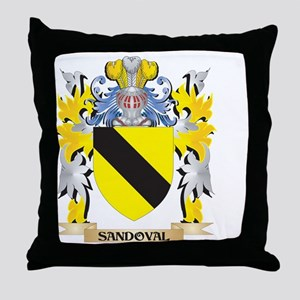 Sandoval Family Crest - Coat of Arms Throw Pillow