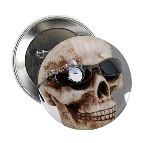 "Optical Skull 2.25"" Button (100 pack)"