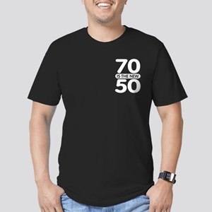 70 is the new 50 Men's Fitted T-Shirt (dark)