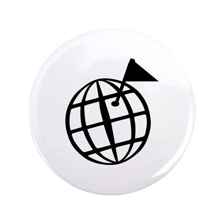 "Globe 3.5"" Button (100 pack)"