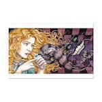 Alice & Cheshire (dark) Mini Poster Print