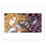 Alice & Cheshire (dark) Small Poster