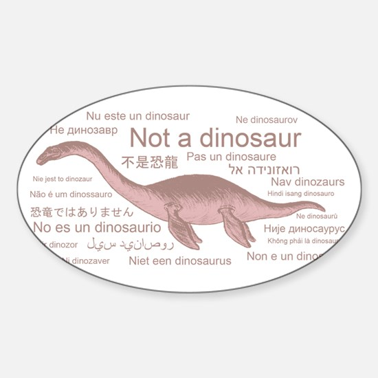 Plesiosaur (not a dinosaur) Sticker (Oval)