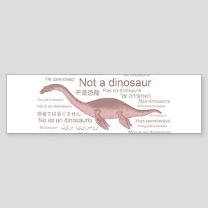 Plesiosaur (not a dinosaur) Sticker (Bumper)