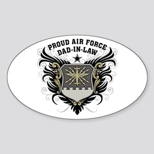 Proud Air Force Dad-in-law Sticker (Oval)