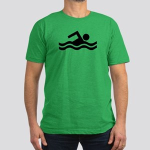 Swimming Men's Fitted T-Shirt (dark)