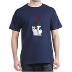 Black Cat and Rose Dark T-Shirt