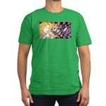Alice & Cheshire (light) Men's Fitted T-Shirt