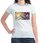 Alice & Cheshire (light) Jr. Ringer T-Shirt